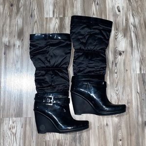 Wedge Puffer Boots